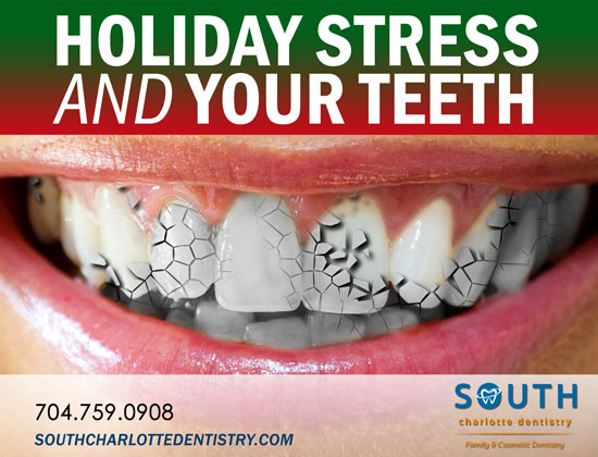Holiday Stress, Teeth, Tooth Damage, Stress-Realted Oral Health, Shopping, Christmas, Oral Care